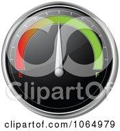 Clipart 3d Car Gas Gauge On Full.