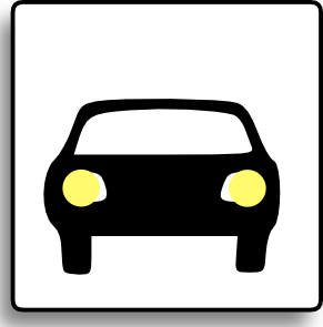 Car headlights clipart.