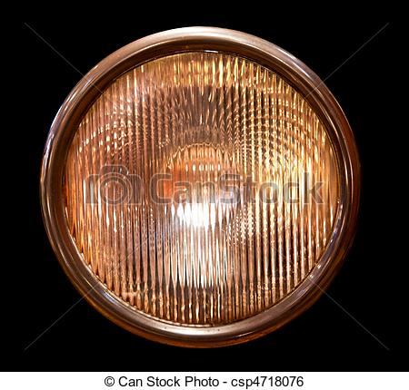 Stock Image of Isolated headlamp.