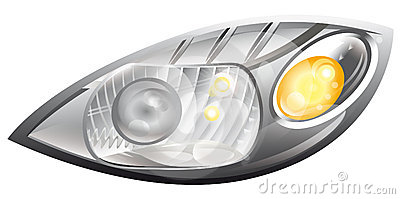 Car headlight clipart.