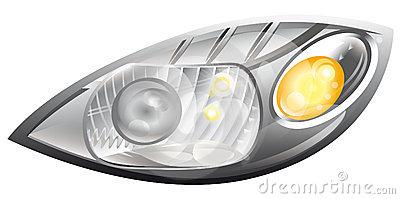 Front headlight clipart #12