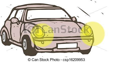 Car headlights clipart.