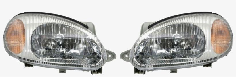 Headlights.