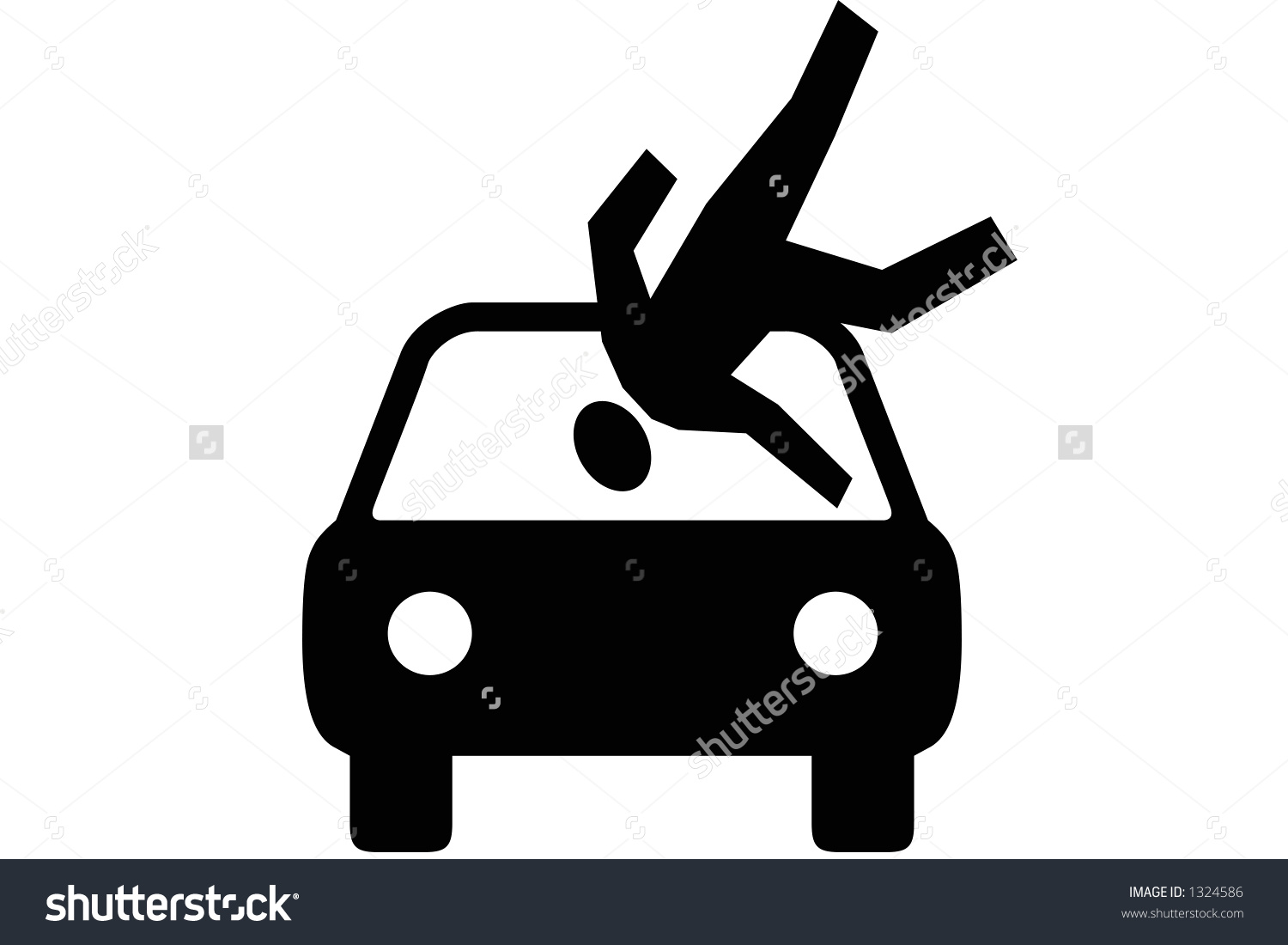 Car Hit Person Clipart.
