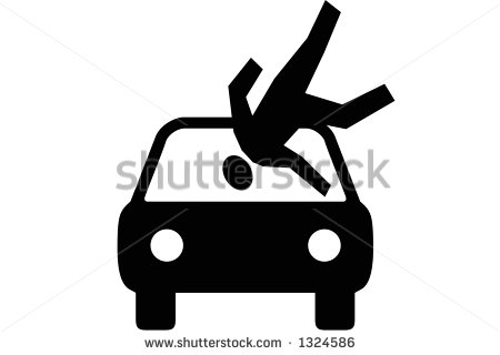 Showing post & media for Cartoon car hitting person.