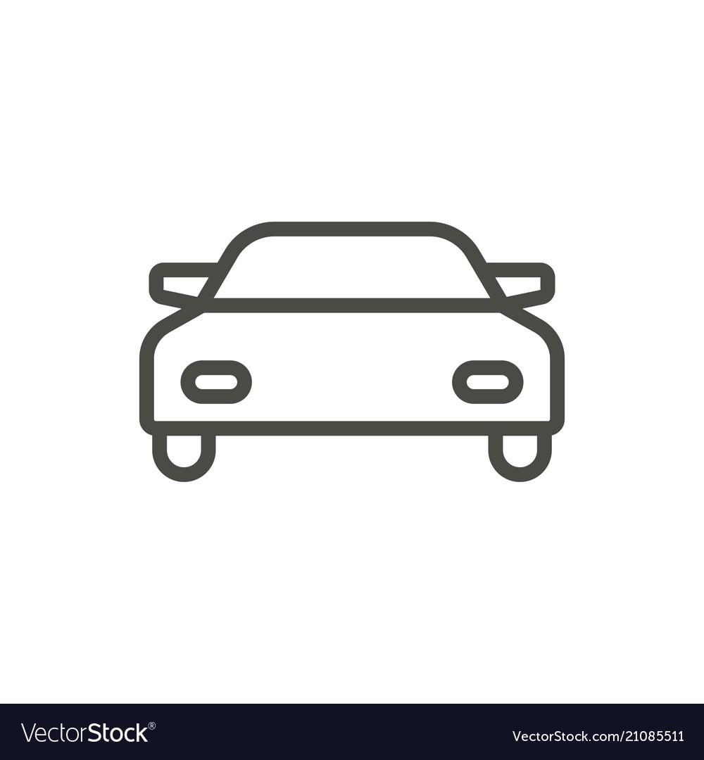 Car icon line auto symbol.