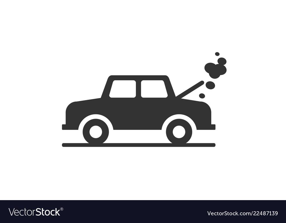 Broken car icon.