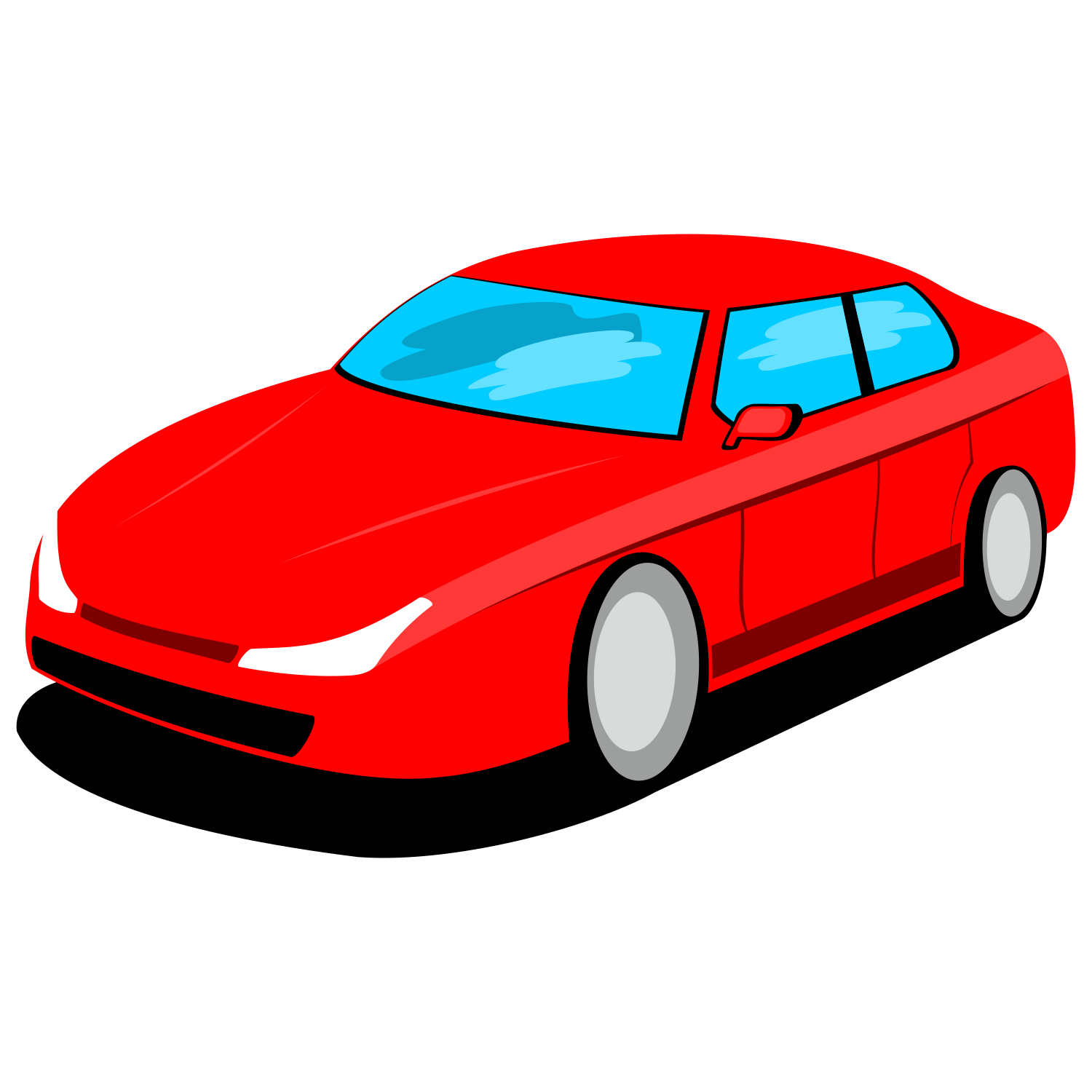 Vector for free use: Red car vector.