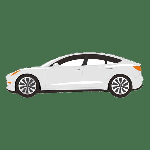 White sedan illustration.