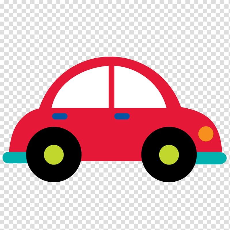 Red car illustration, Car Transport , cartoon car transparent.