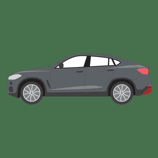 Black car illustration.