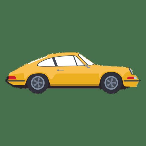 Yellow car illustration.
