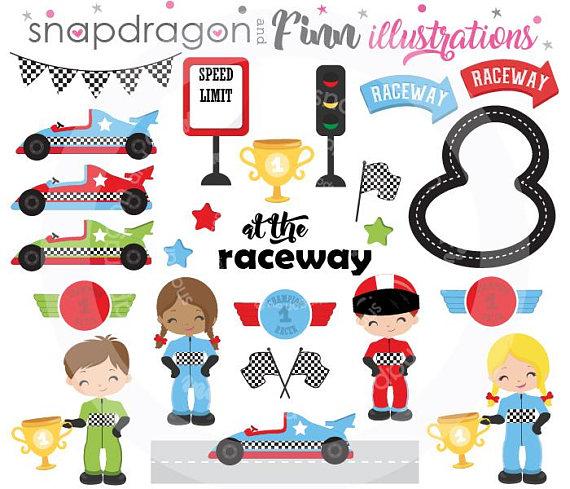 Racing Clipart, Race Car Clipart, Race Car Driver Clipart.