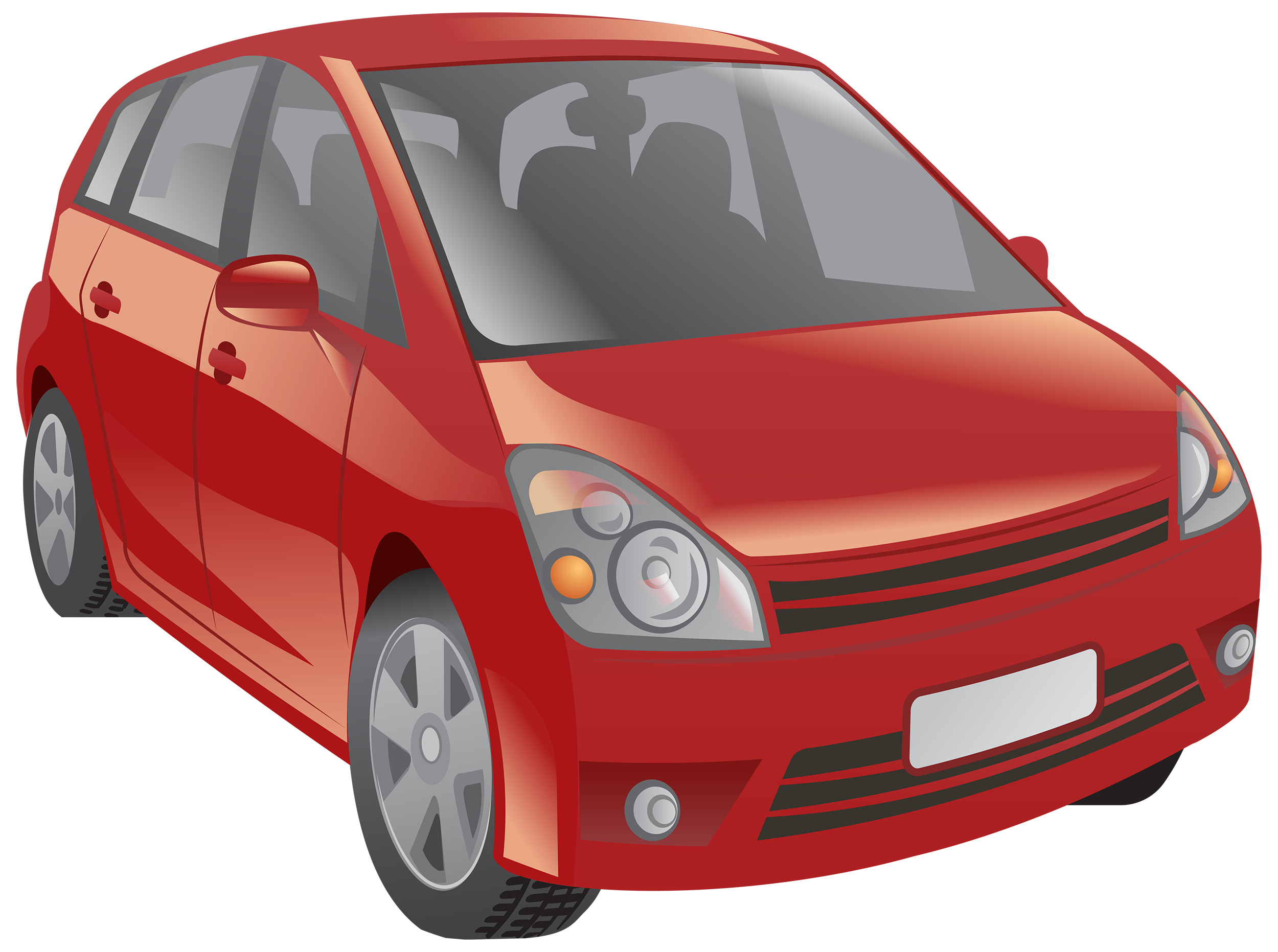 Red Car PNG Clipart.