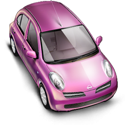 Pink Car Icon, PNG ClipArt Image.