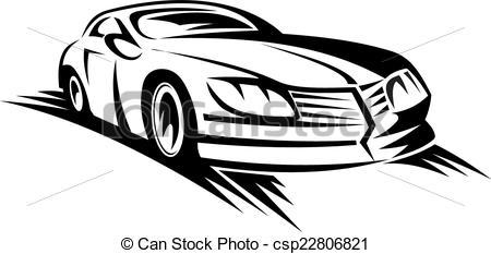 Vector Illustration of Moving car.