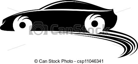 Car In Motion Clipart.
