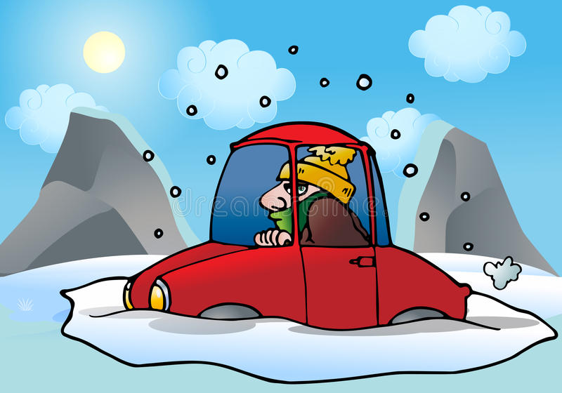 Car Snow Stock Illustrations.