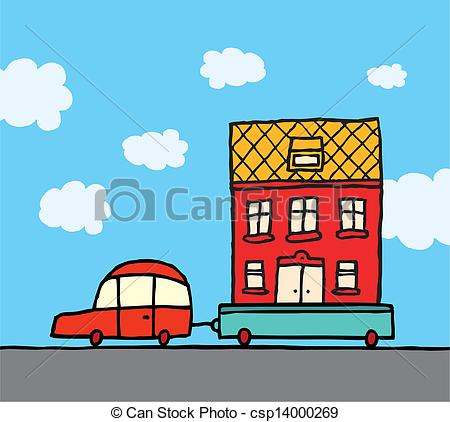 Free house and car clipart.