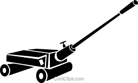 car jack Royalty Free Vector Clip Art illustration.