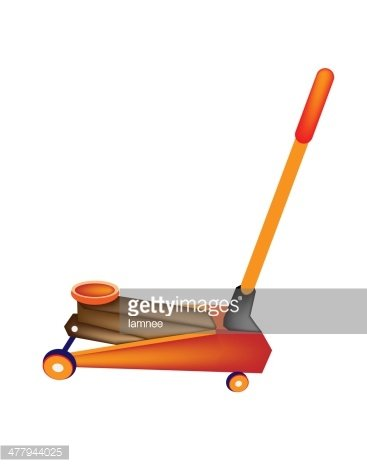 Car and Truck Jack Isolated on White stock vectors.