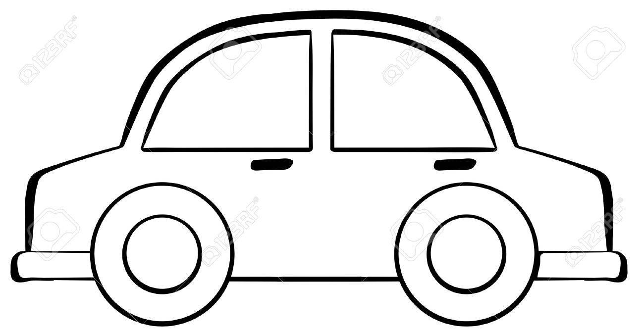 Close up classic small car.