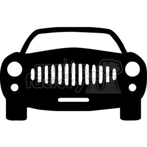 Front of a car Silhouettes clipart. Royalty.