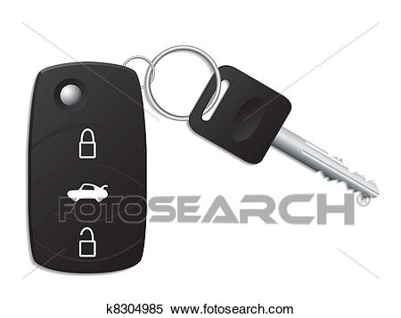 Car key with remote Clipart.