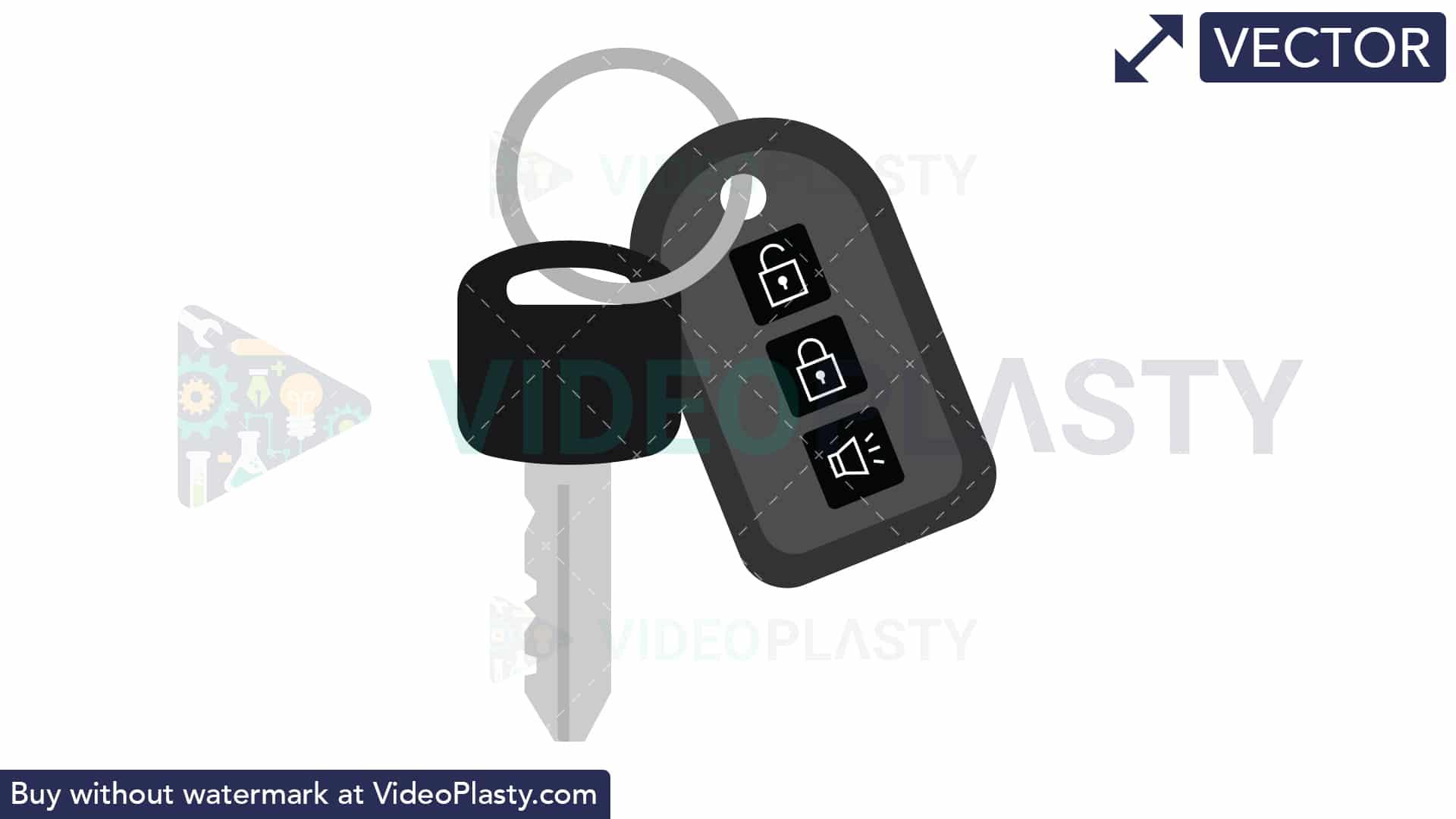 Car Key Icon [VECTOR].