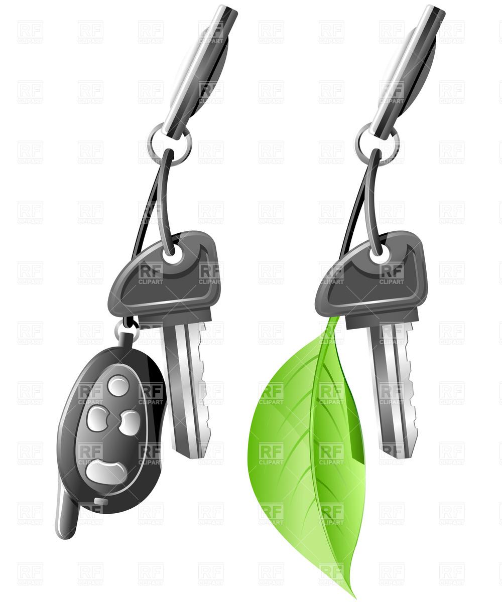 Eco Car Key Stock Vector Image.