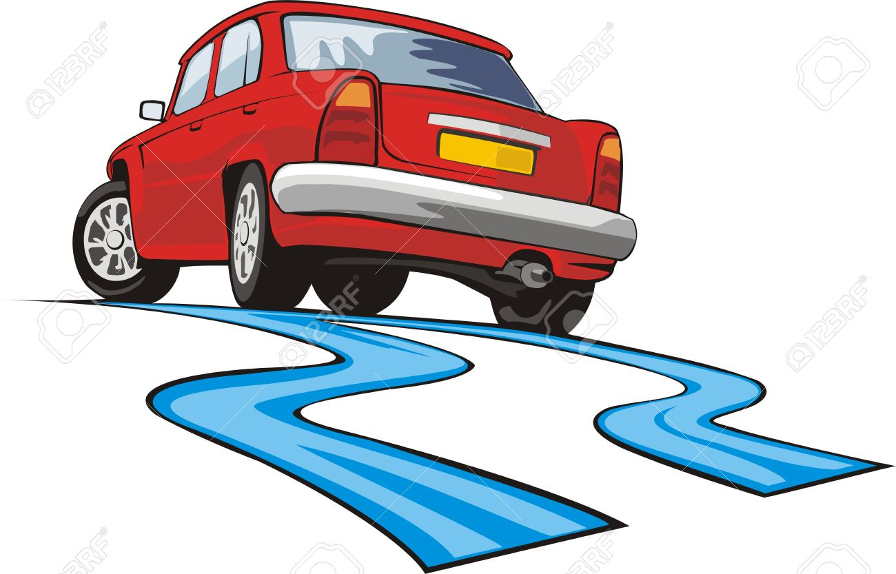 Car On A Road Clipart.