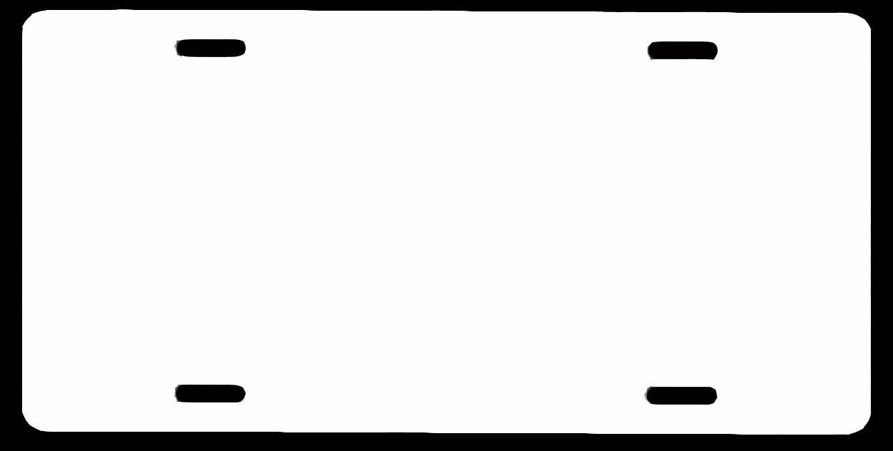 License Plate Clip Art.