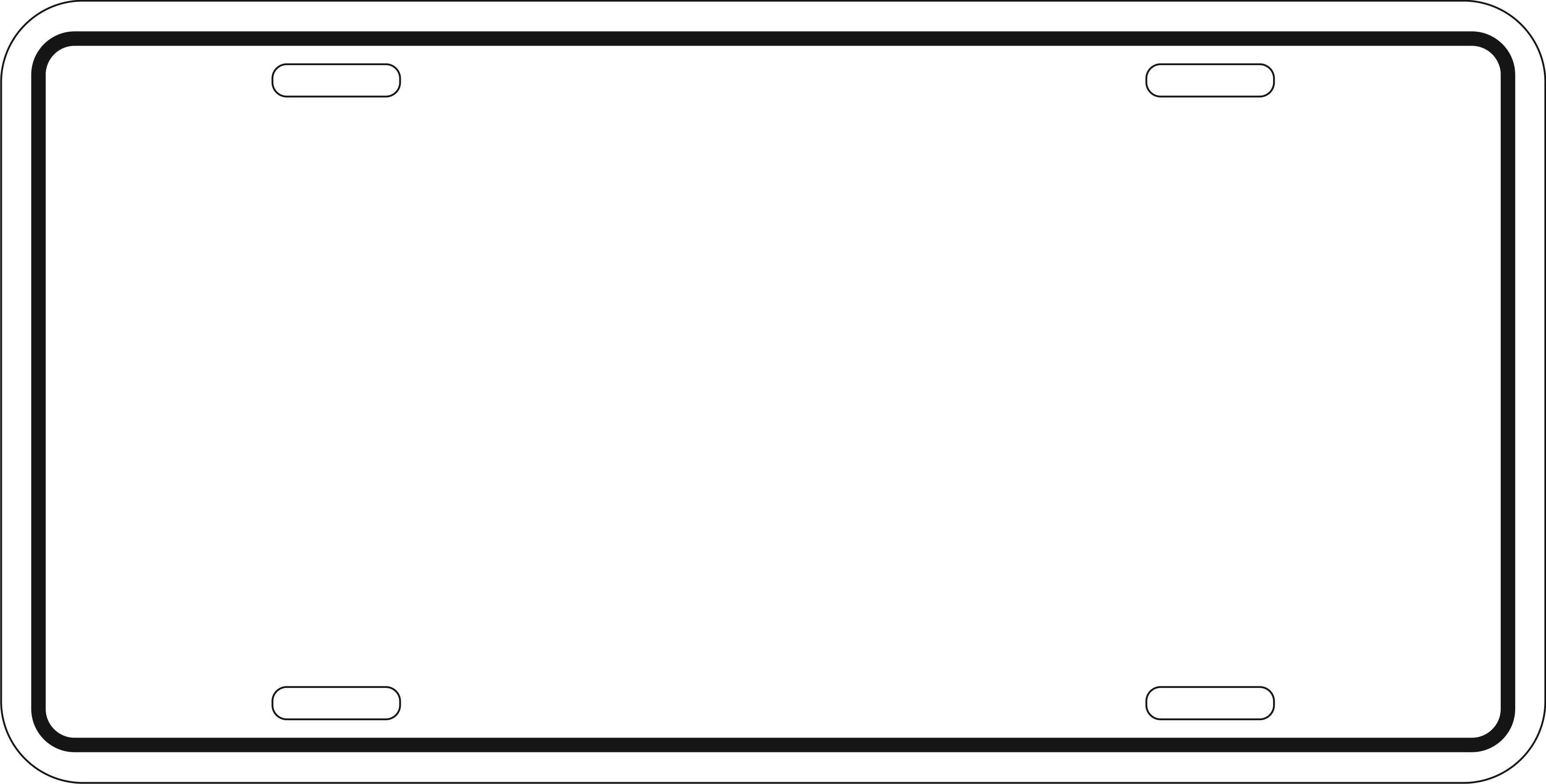 Blank license plate clipart.