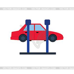 Car lift icon.