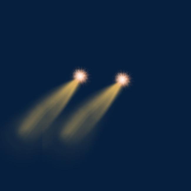 Orange Car Lights, Orange Light Effect, Light Source, Light Beam PNG.
