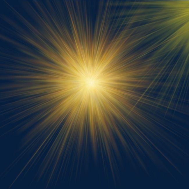 Yellow Light Effect Of Light, Halo Irradiation, Automobile Light.