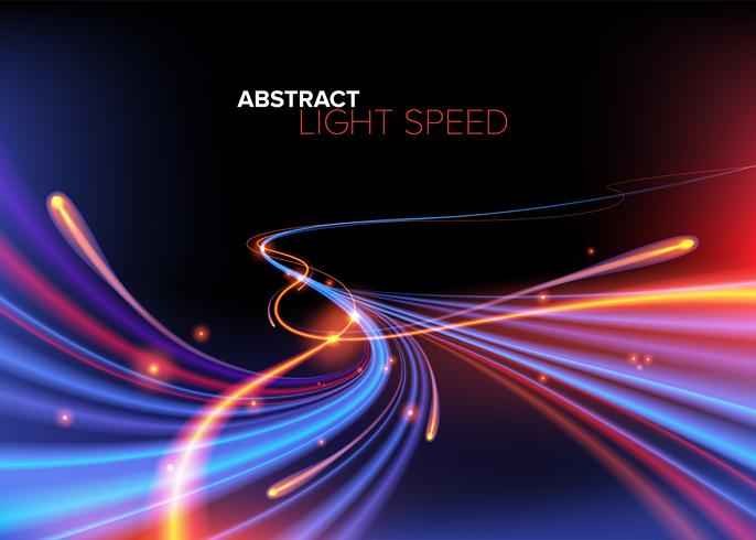 Abstract Light Trail in Vector.
