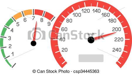 Clip Art Vector of car speeding limit.