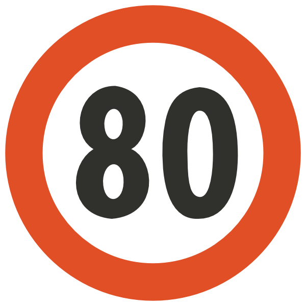 Speed limit clipart.