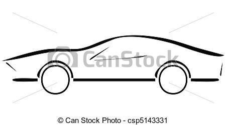 Vector Clip Art of sport car line illustration csp5143331.