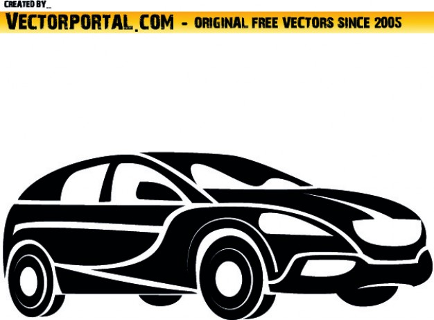 Car Line Art Clipart.