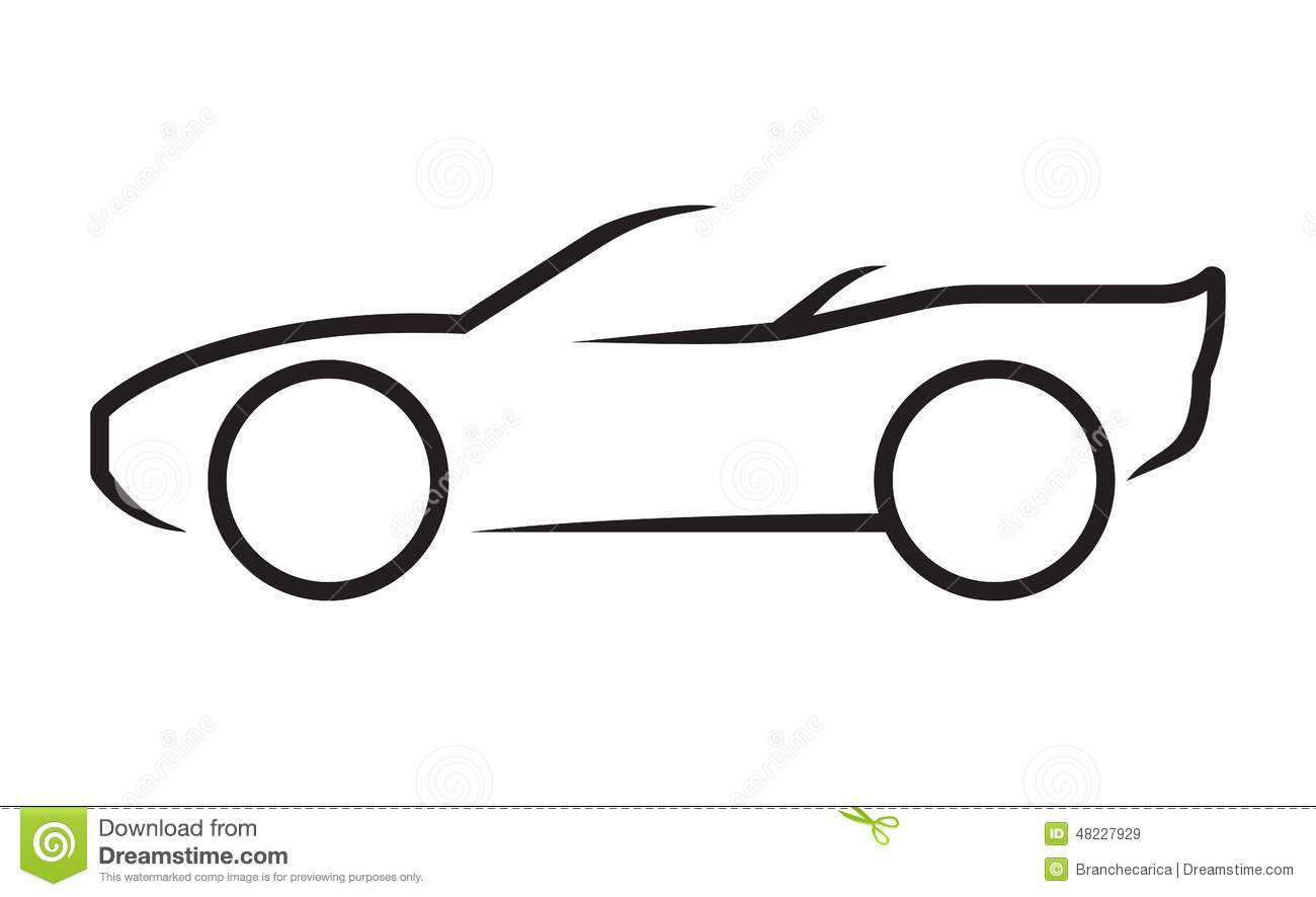 Car line art stock vector. Illustration of horizontal.