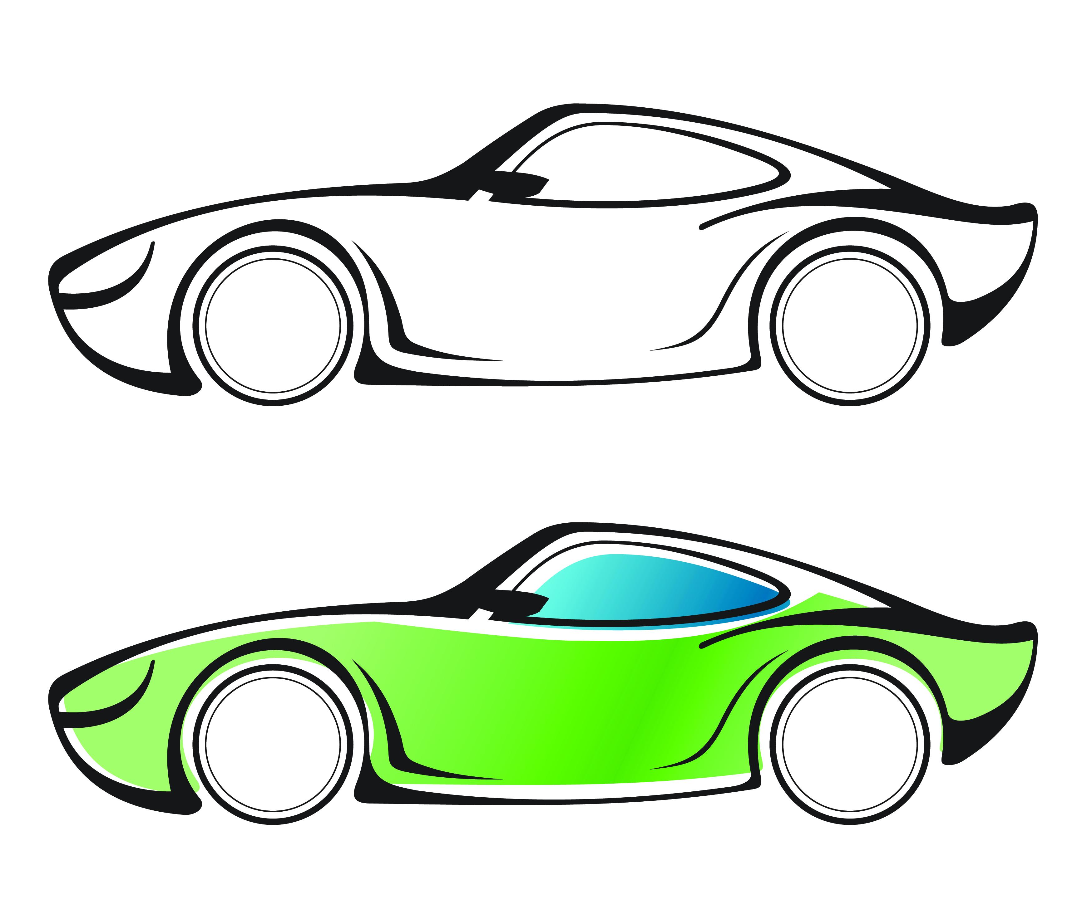 Line Drawing Car.