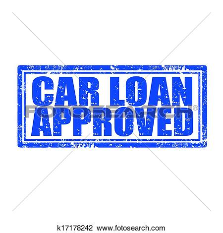Clipart of Car Loan Approved.