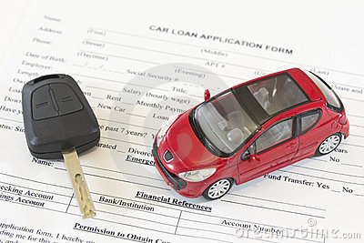 Car Loan Application Approved 002 Stock Photo.