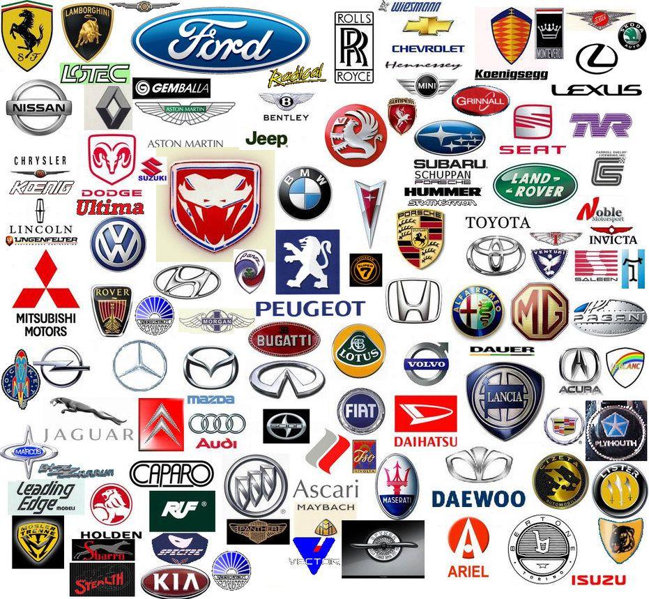car logos and names.