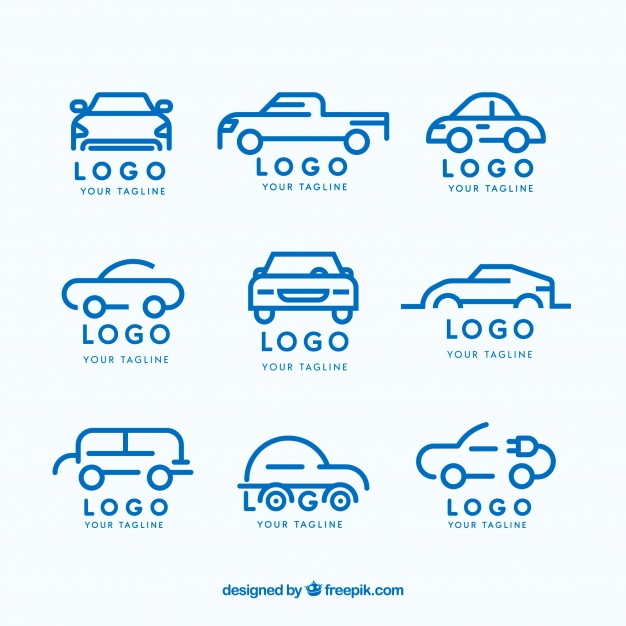 Flat car logo collection Vector.