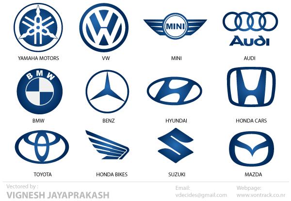 Automotive Logos Free Vector.