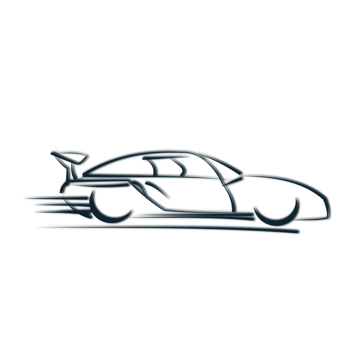 Race Car Logo Symbol.