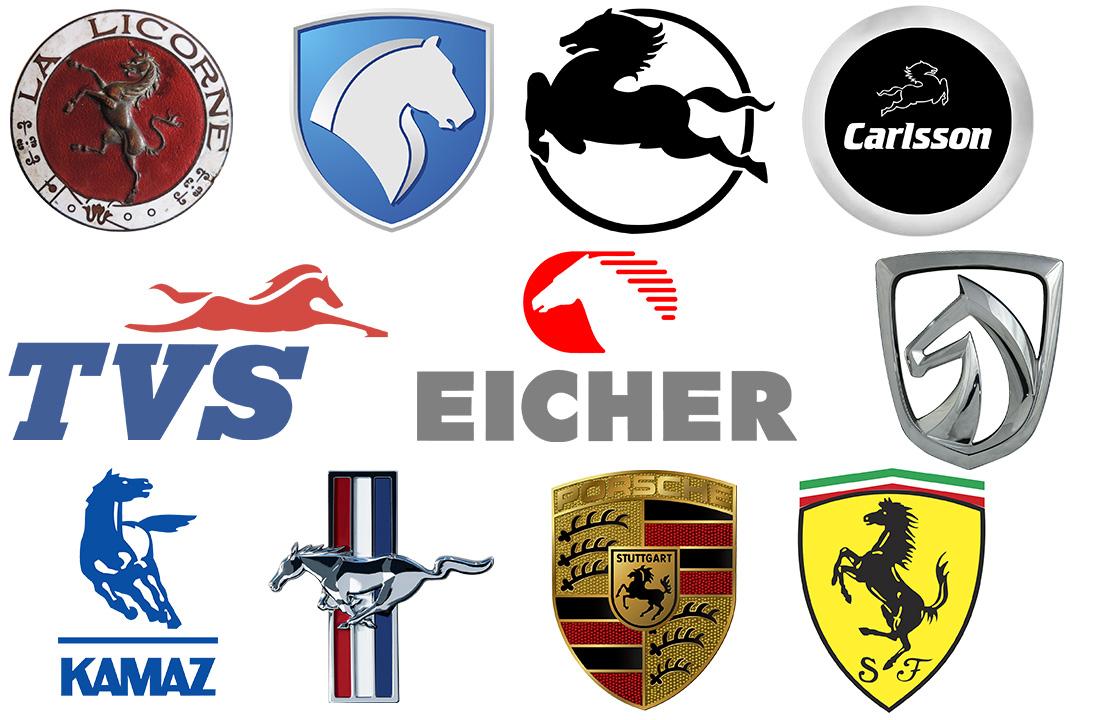 Car logos with horse.
